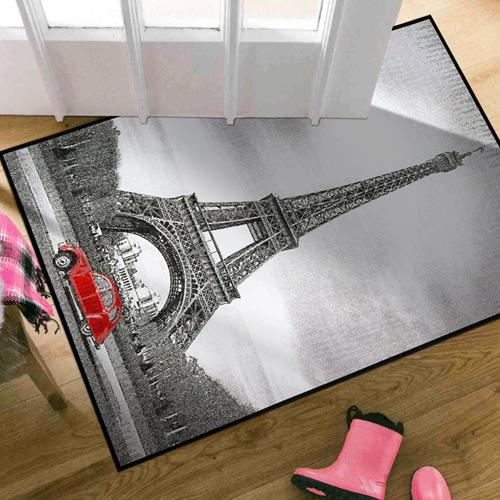 范登伯格 快樂頌 異國風情絲質地毯地墊~巴黎鐵塔60x100cm