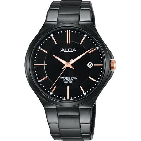 ALBA 玩轉時尚東京石英腕錶-黑/40mm VJ42-X184K(AS9C07X1)