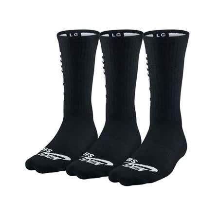 (男) NIKE SB 3款包裝長襪-慢跑 路跑 中筒襪 襪子 黑白
