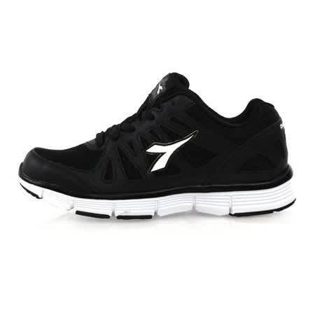 (女) DIADORA 段慢跑鞋-路跑 訓練 健身 半馬 全馬 長跑 黑白