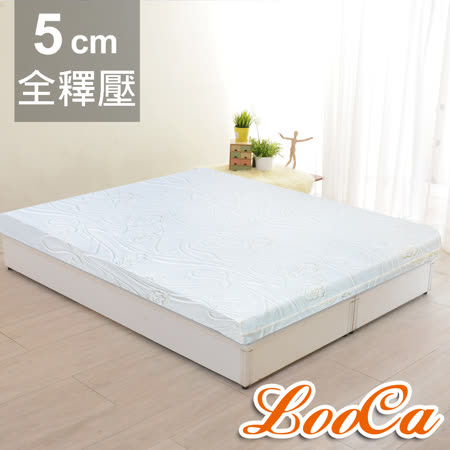 【LooCa】溫感緹花5cm記憶床墊-單人