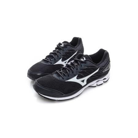 MIZUNO (男) 慢跑鞋 黑白灰 J1GC170301