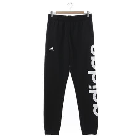Adidas (男) 運動棉長褲(厚) 黑白 AK1566