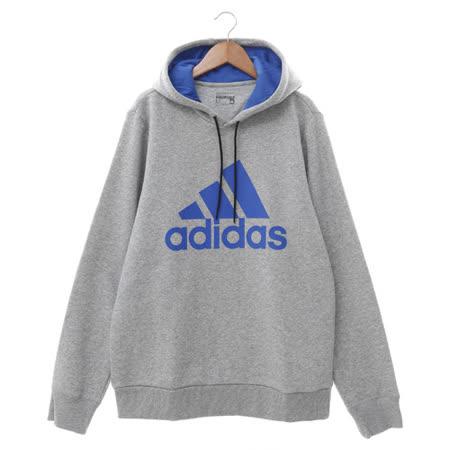 Adidas (男) 連帽T厚(長) 灰藍 AY6246
