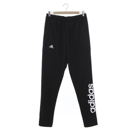 Adidas (男) 運動棉長褲(薄) 黑白 AZ8371
