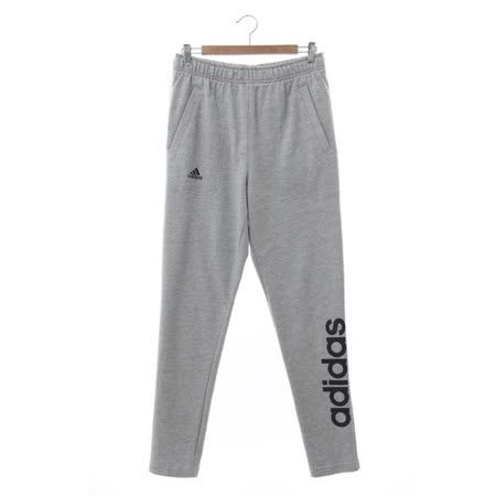Adidas (男) 運動棉長褲(薄) 灰黑 AZ8370
