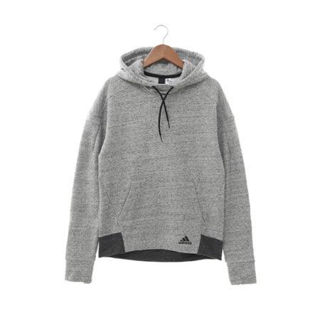 Adidas (女) 連帽T(長) 灰黑 AZ3067