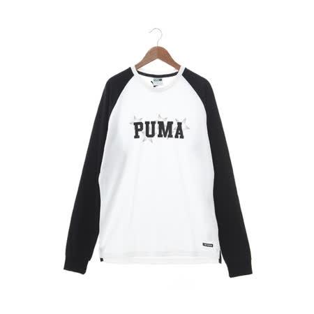 PUMA (男) 圓領T(長) 黑白 57260701