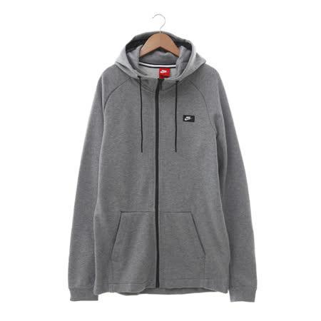 NIKE (男) 棉質--運動外套(連帽) 灰 805131091