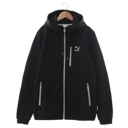 PUMA (男) 棉質--運動外套(連帽) 黑白 57261901