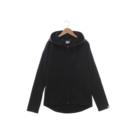 PUMA (女) 棉質--運動外套(連帽) 黑 59040301