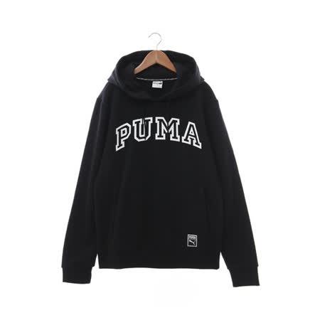 PUMA (男) 連帽T厚(長) 黑白 57218801