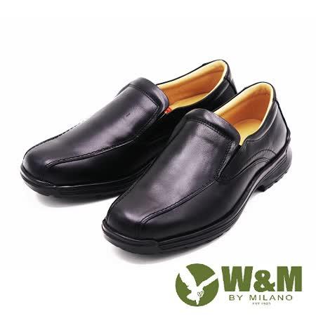 W&M 真皮商務休閒皮鞋 男鞋-黑