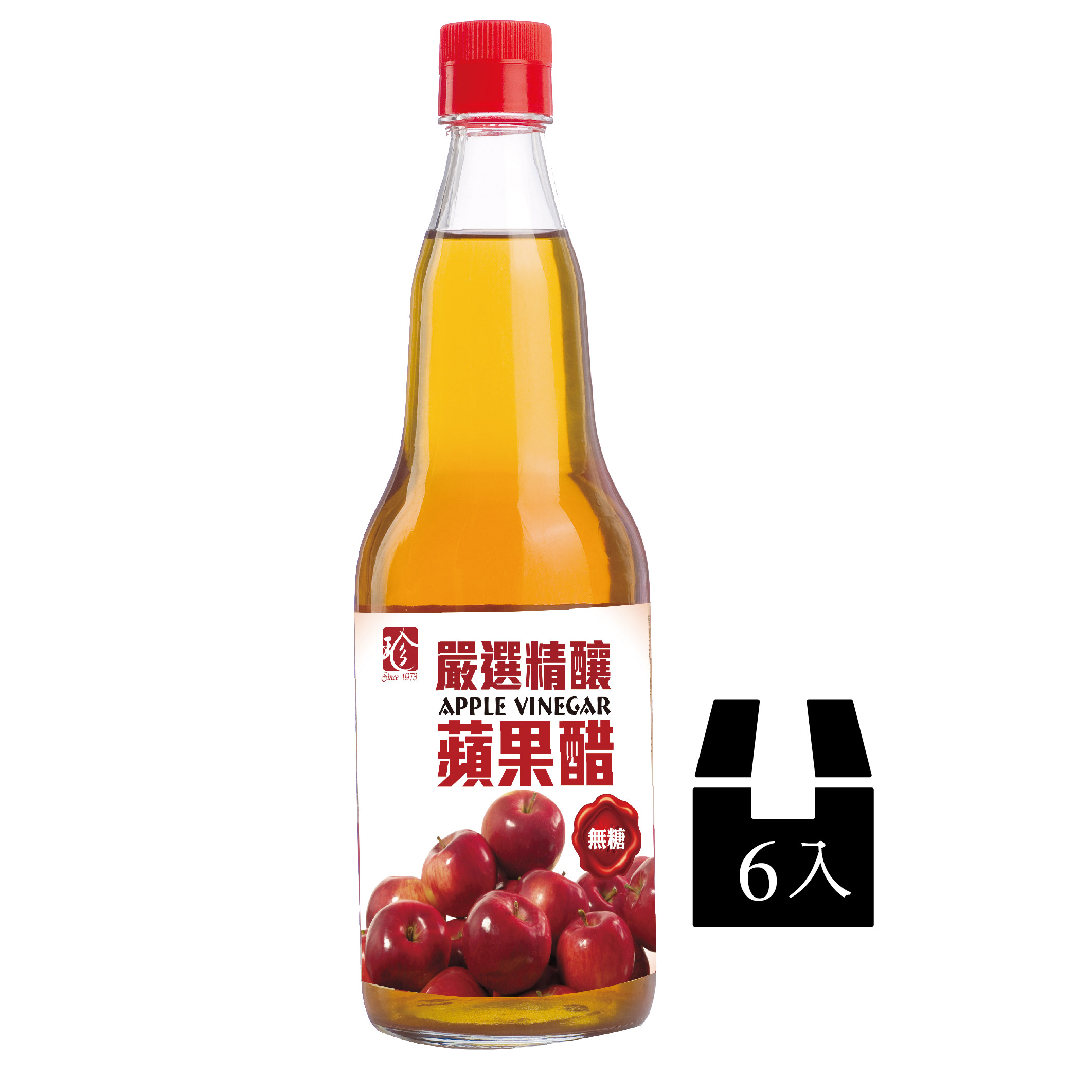 【百家珍】嚴選精釀蘋果醋600ml*6入