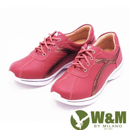 W&M FIT拚色休閒運動鞋健走鞋 女鞋-粉(另有黑)
