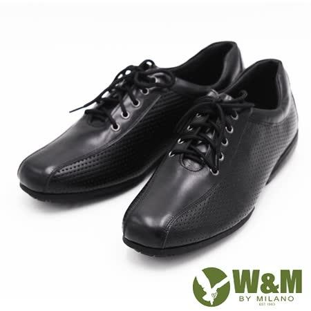 W&M 商務正裝男士鏤空皮鞋 男鞋-黑