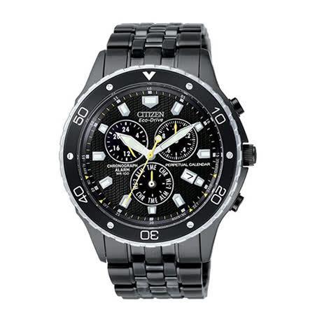 CITIZEN星辰  PROMASTER 萬眾矚目光動能腕錶(IP黑/41mm) BL5299-54E