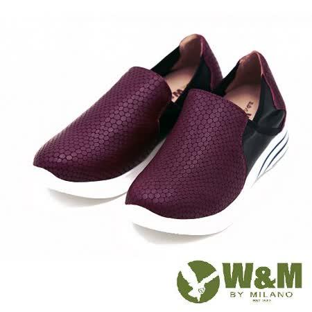 W&M 反光亮面厚底懶人鞋女鞋-紅(另有藍)