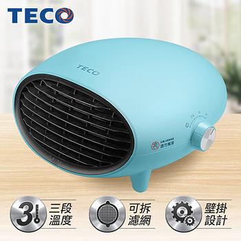 TECO東元 可壁掛陶瓷電暖器-(白/藍 2色可選) YN1251CBW/YN1251CBB