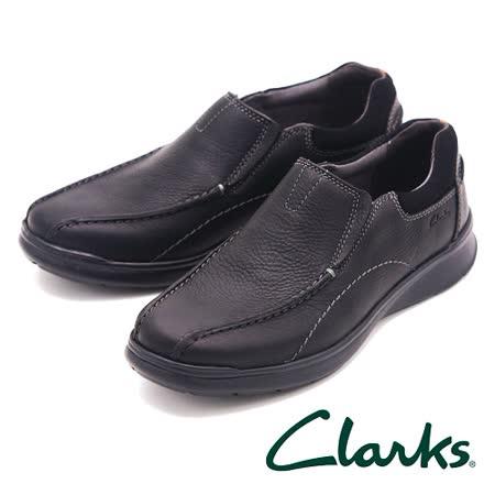 Clarks 舒適皮革直套式休閒鞋 男鞋-黑(另有棕)