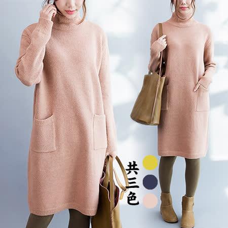 【韓國KW】簡約百搭舒適柔軟針織長版連身裙