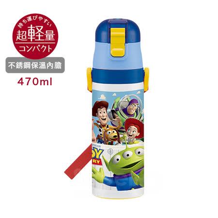日本Skater不鏽鋼直飲保溫水壺(470ml) 玩具總動員