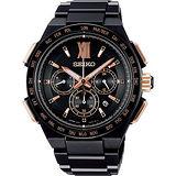 SEIKO Bright z星際航游 鈦金屬 太陽能電波限量腕錶/43mm/8B92-0AH0SD