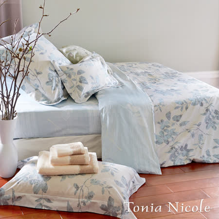 【Tonia Nicole東妮寢飾】李莉斯環保印染精梳棉兩用被床單組(雙人)
