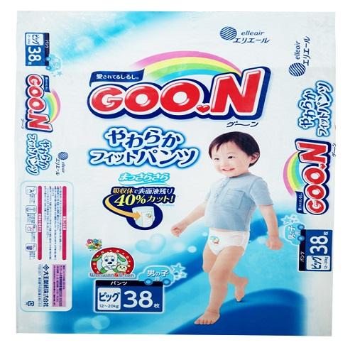 ~ 國內限定販售單包版~GOO.N~大王^(男孩褲型^)XL38片