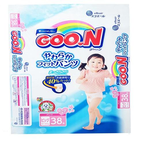 ~ 國內限定販售單包版~GOO.N~大王^(女孩褲型^)XL38片