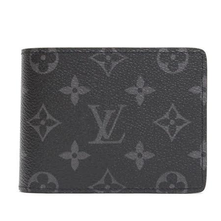Louis Vuitton LV M61695 Multiple 黑經典花紋雙折中短夾_預購