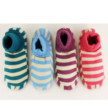 M&P 條紋止滑室內襪(22~24cm)