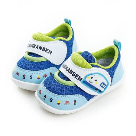 Shinkansen 新幹線 輕量抗菌防臭專利鞋墊寶寶學步鞋 715909-水