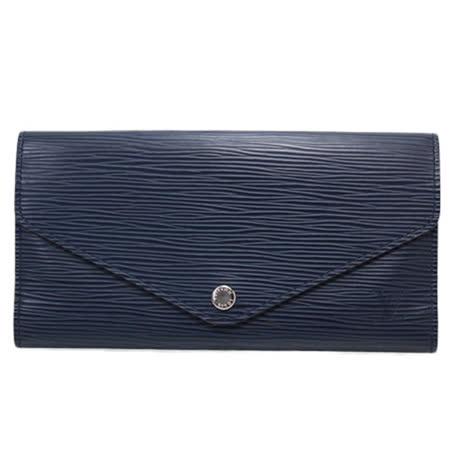 Louis Vuitton LV M60850 JOSEPHINE EPI 水波紋皮革活動零錢長夾.靛藍_預購