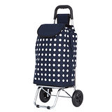 WEEY 輕巧靜音輪 購物車 菜籃車 載運車 (藍點) 29-016D4
