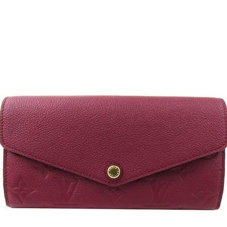 Louis Vuitton LV M62213 Sarah 經典花紋全皮革壓紋扣式長夾(發財包)_預購