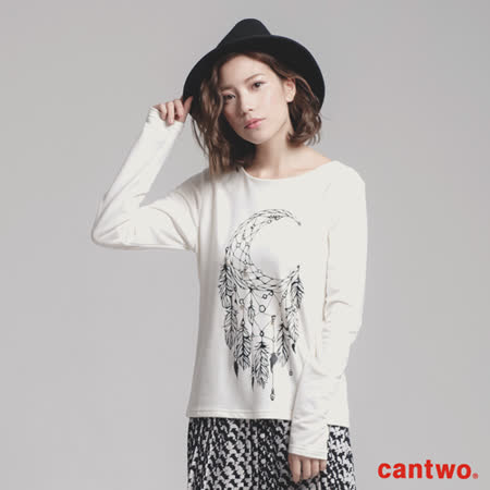 cantwo珠飾捕夢網長袖上衣(共三色)
