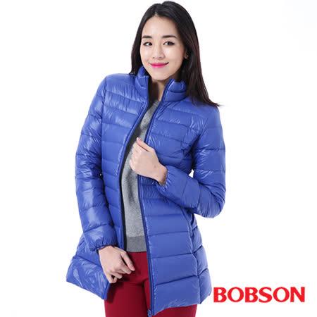 BOBSON 女款輕量羽絨長版外套 (35106-54)