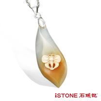 石頭記 冰彩玉髓項鍊-月之蝶3