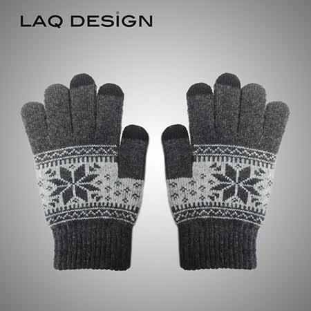 LAQ DESiGN 3TIPS 雪花圖案三指觸控手套
