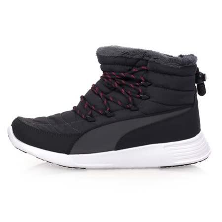 (女) PUMA ST WINTER BOOT 休閒鞋-保暖 刷毛 高筒 灰桃紅