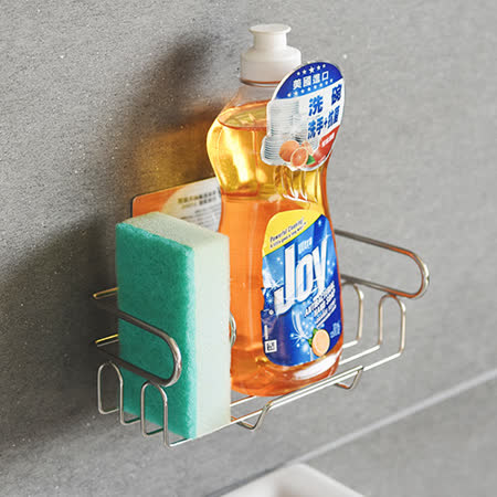 《Peachy life》髮絲紋金屬面304不鏽鋼流理台置物架/瀝水架/水槽架