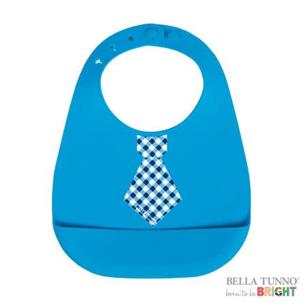 美國 Belle Tunno 寶寶矽膠圍兜兜 (小領帶-藍色)