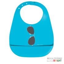 美國 Belle Tunno 寶寶矽膠圍兜兜 (太陽眼鏡-藍)
