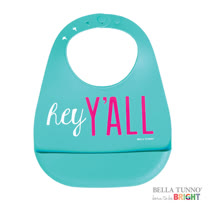 美國 Belle Tunno 寶寶矽膠圍兜兜 (哈囉大家好)