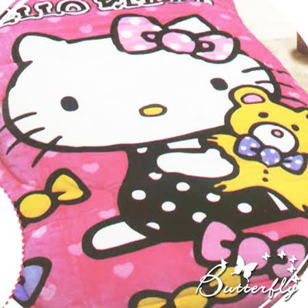 【HelloKitty】 法蘭絨 凱蒂貓暖暖被-小熊寶貝(粉)