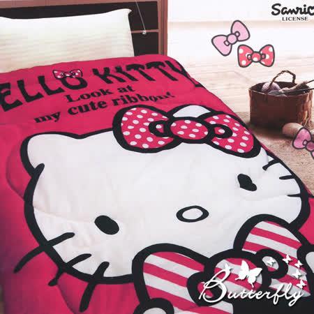 【HelloKitty】 法蘭絨 凱蒂貓暖暖被-我的小可愛(紅)