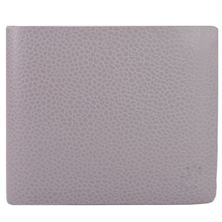 agnes b.蜥蝪壓紋荔枝紋皮革對開短夾(零錢袋)
