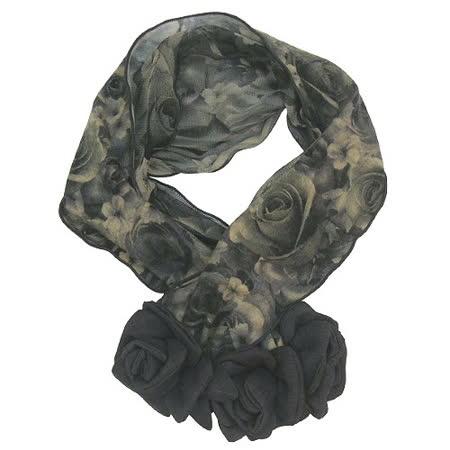 【波克貓哈日網】日系流行圍巾◇玫瑰圖案◇《立體花朵造型》