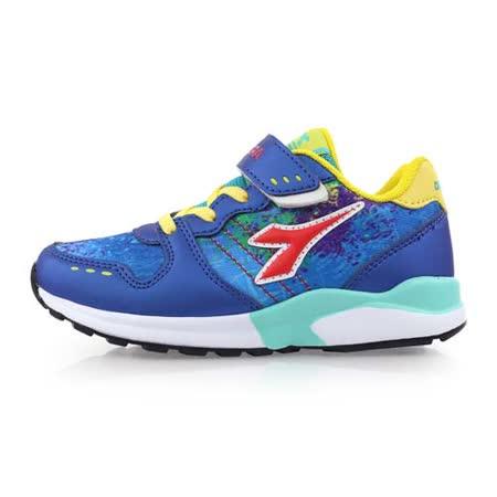 (童) DIADORA 男女中段慢跑鞋-路跑 兒鞋 藍紅黃